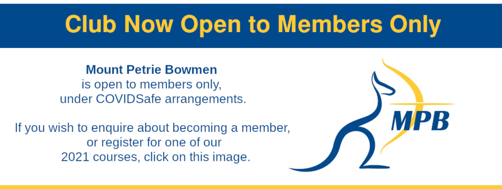 Club Now Open to Members Only. If you wish to enquire about becoming a member, or register for one of >>>> our 2021 courses, click on this image.