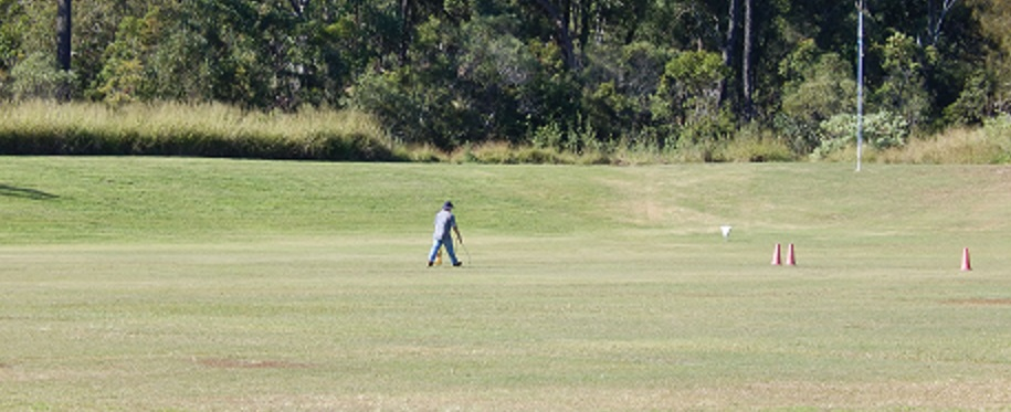 Line marking on outdoor range