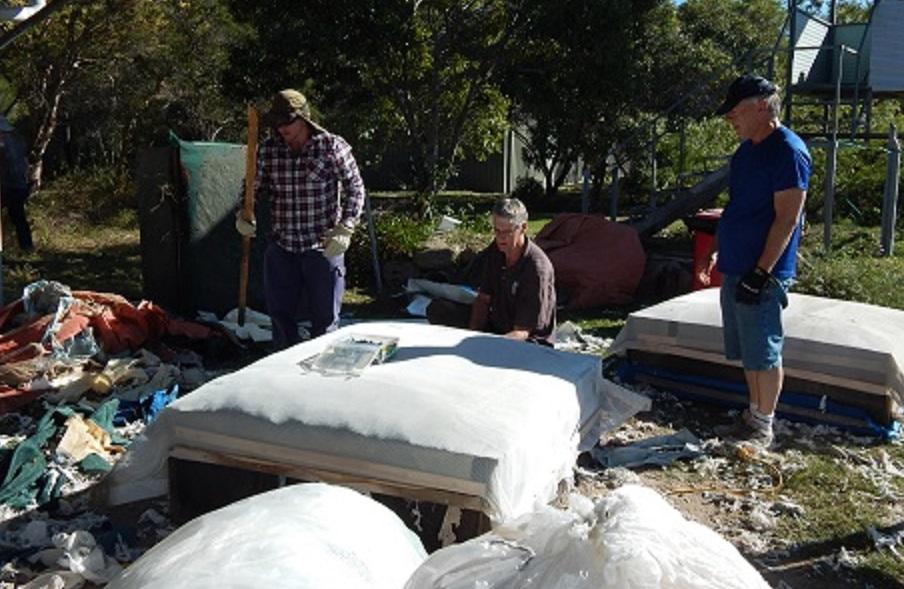 Refurbishing the outdoor practice butts